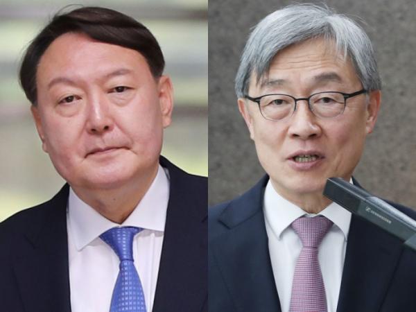 ▲야권 유력 대선 주자로 거론되는 윤석열 후보(왼쪽)과 최재형 전 감사원장. (연합뉴스)