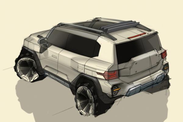 ▲쌍용차 KR10 디자인 스케치  (사진제공=쌍용차)