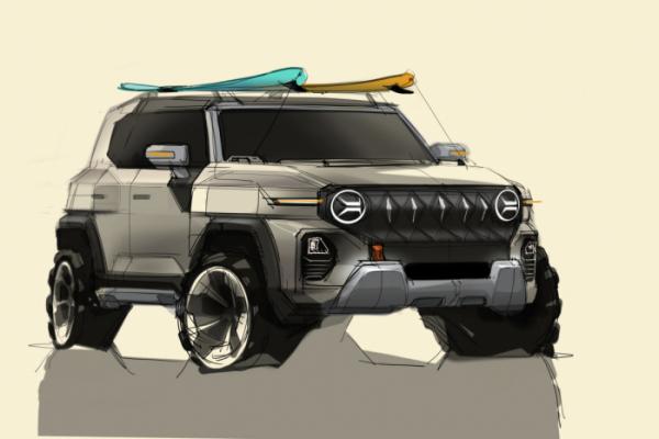 ▲쌍용차가 준중형급 SUV로 개발 중인 신차의 디자인 스케치를 공개했다.   (사진제공=쌍용차)