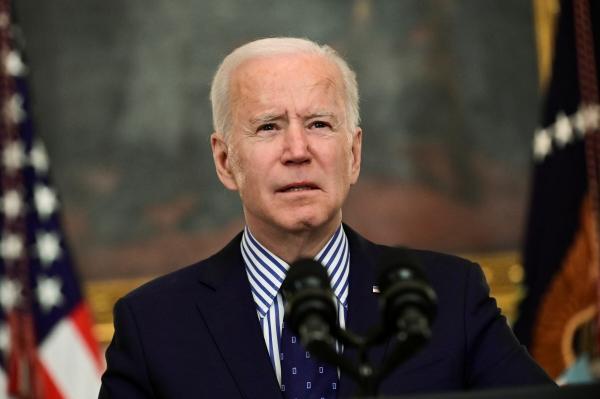 ▲조 바이든 미국 대통령이 3월 6일 백악관에서 연설하고 있다. 워싱턴D.C./로이터연합뉴스