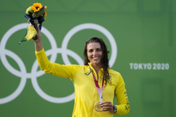▲29일 일본 가사이 카누 슬라럼 센터에서 열린 2020 도쿄올림픽 여자 카누 결승에서 금메달을 차지한 제시카 폭스(호주) (뉴시스)