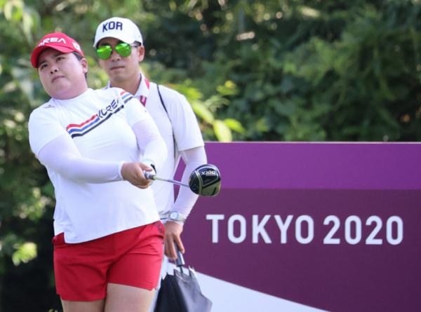 ▲1일 일본 가스미가세키 컨트리클럽에서 올림픽 여자 골프 대표팀 박인비가 훈련을 하고 있다. (연합뉴스)