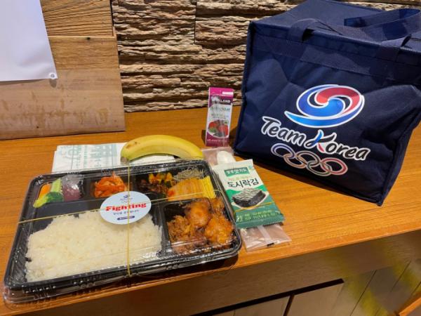 ▲도쿄올림픽에 출전한 한국 선수단을 지원하는 대한체육회의 급식지원센터가 7월 20일 선수들에게 전달한 점심 도시락.  (연합뉴스)