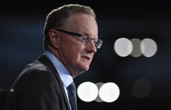 ▲필립 로 호주 중앙은행(RBA) 총재가 지난해 2월 5일 시드니에서 연설하고 있다. 시드니/AP뉴시스