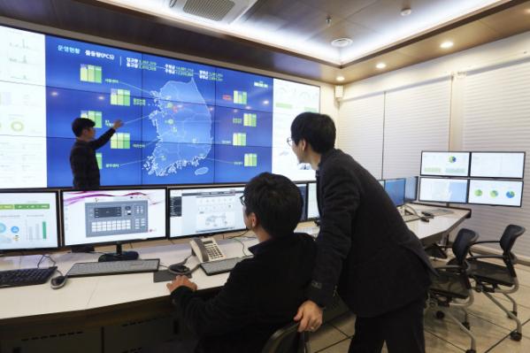 ▲CJ대한통운 TES물류기술연구소 통합관제센터. (사진제공=CJ대한통운)