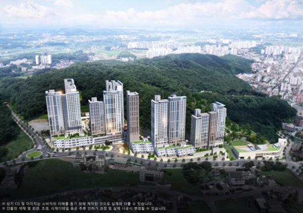 ▲GS건설 '이천 자이 더 파크' 아파트 조감도 (자료제공=GS건설)