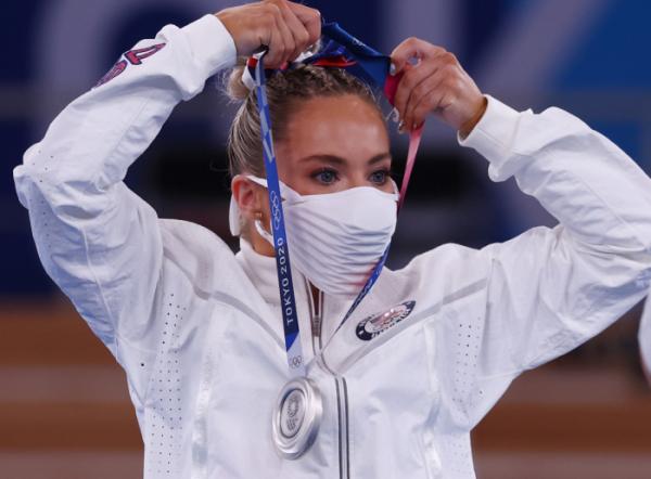 ▲2020 도쿄올림픽 기계체조에서 은메달을 딴 미국 선수 (연합뉴스)