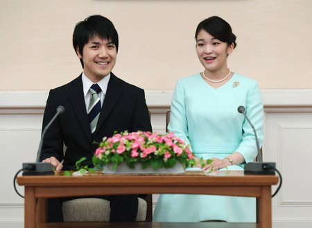 ▲고무로 게이(왼), 마코 공주. (출처=궁내청 홈페이지)