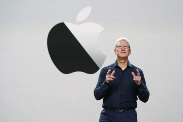 ▲2020년 6월 22일 열린 애플 세계 개발자 회의에 연사로 나선 애플 CEO 팀쿡 (AP/뉴시스)