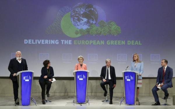 ▲지난 7월 유럽연합(EU) 본부에서 열린 EU 그린딜 미디어 콘퍼런스 (뉴시스)