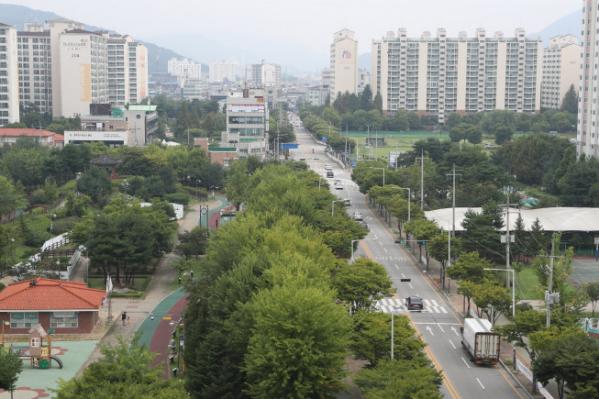▲경기 동두천시 수도권 1호선 지행역 일대 시가지 전경.  (연합뉴스)