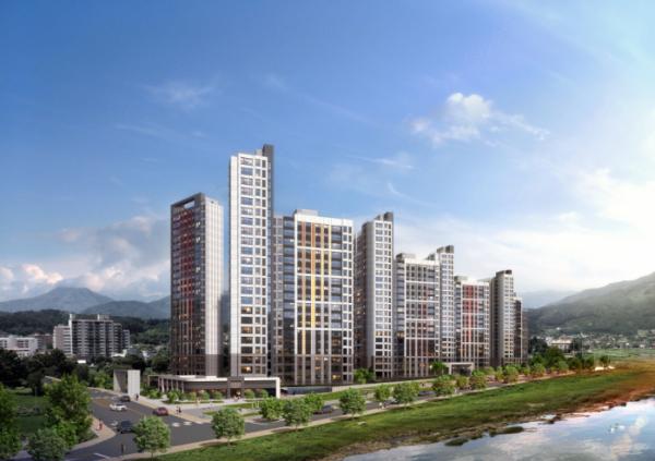 ▲현대건설 '힐스테이트 가평 더뉴클래스' 투시도 (자료제공=현대건설)