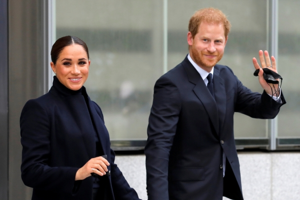 ▲영국 해리 왕자와 아내 메건 마클이 23일(현지시간) 뉴욕 세계무역센터를 방문하고 있다. 뉴욕/로이터연합뉴스