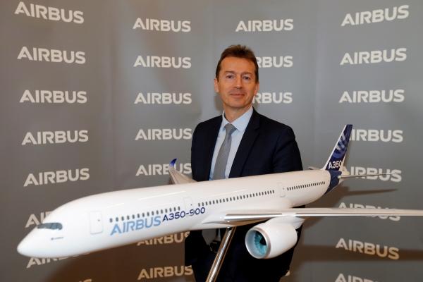 ▲기욤 포리 에어버스 최고경영자(CEO)가 지난해 2월 13일 프랑스 툴루즈에서 열린 행사에 참석하고 있다. 툴루즈/로이터연합뉴스
