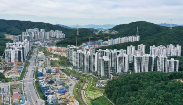 ▲경기 성남시 분당구 대장동 개발지구 전경 (연합뉴스)