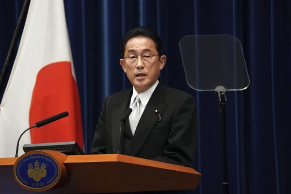 ▲기시다 후미오 일본 총리가 4일 기자회견을 하고 있다. 도쿄/AP연합뉴스