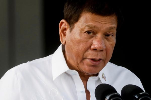 ▲로드리고 두테르테 필리핀 대통령이 2월 28일 마닐라에서 기자회견을 하고 있다. 마닐라/로이터연합뉴스